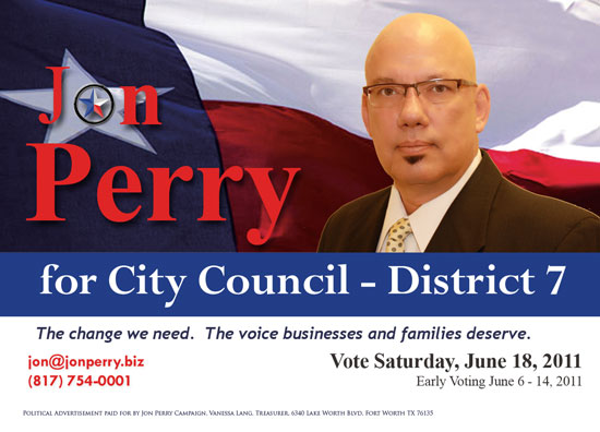Jon Perry for Fort Worth City Council Image